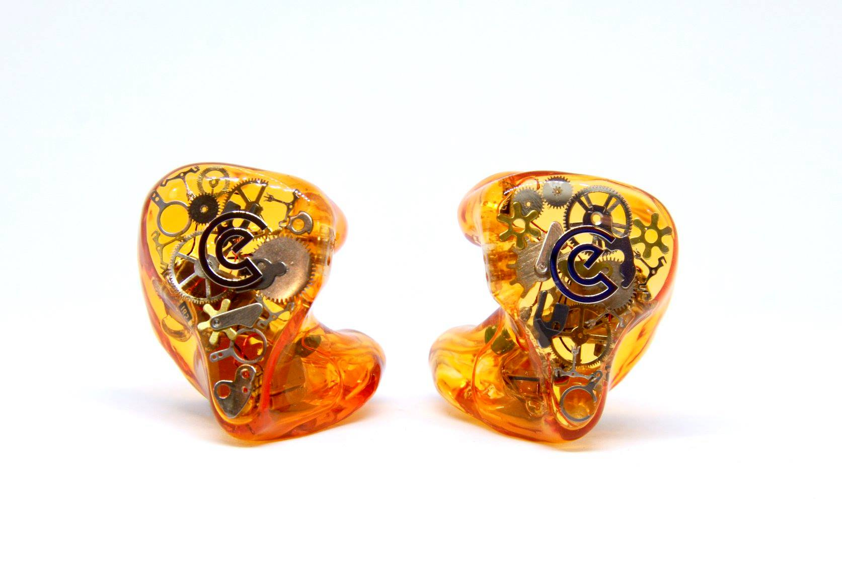 Faceplate: 'Time machine' faceplate and metallic Craft Ears logo, color: Orange Transparent